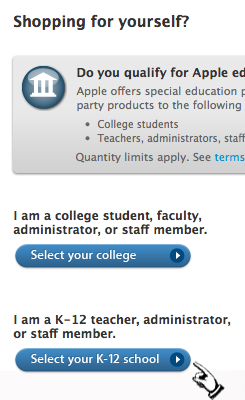 Apple Education Store - Qualification